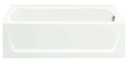 "60"" x 30"" Alcove Bathtub - Ensemble, White"