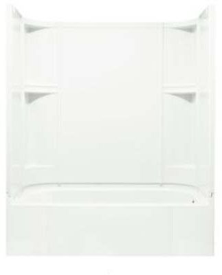 4-Piece Left Hand Tub and Shower Module - Accord, High-Gloss White