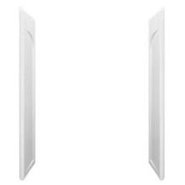 "Ensemble Modular/Curve/Corner Shower Enclosure End Wall Set, Solid Vikrell 32"" x 60"" White, High-Gloss"
