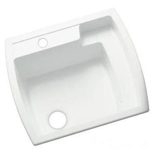 "Latitude Undermount Utility Sink, Solid Vikrell 25"" X 22"" X 13"" White"