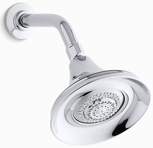 Forte 3-Function Round Showerhead, Polished Chrome