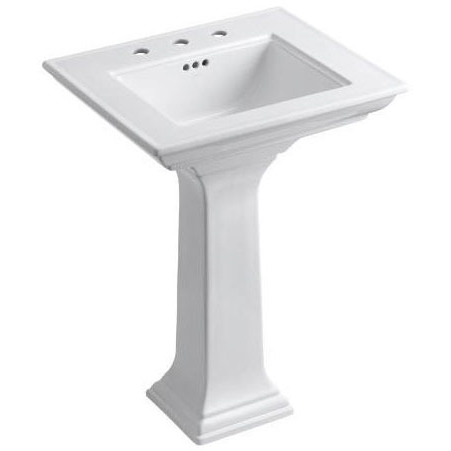Memoirs Pedestal Mount Bathroom Sink, Fireclay