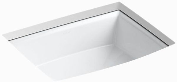 "Archer Undermount Bathroom Sink, Vitreous China 19-7/8"" X 15-5/16"" White"