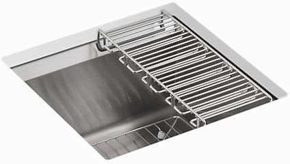 8 Degree Undermount Bar Sink, Stainless Steel