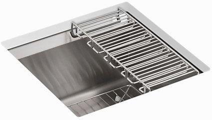 8 Degree Undermount Bar Sink, Stainless Steel