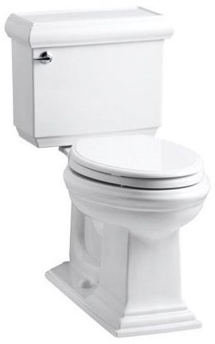 Memoirs Classic Design Comfort Height 1.28 Toilet Elongated Bowl White