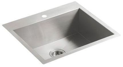 Vault Single Basin Sink 1-Hole Stainless Steel