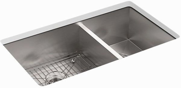 Vault Offset Sink 4-Hole Stainless Steel