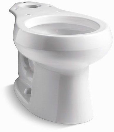 Wellworth Round Front Toilet Bowl, Vitreous China 1.6 GPF White