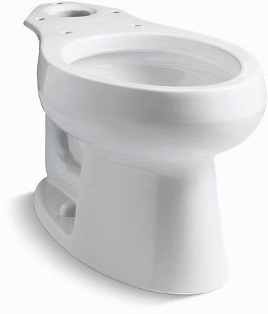 Wellworth Elongated Front Toilet Bowl, Vitreous China 1.6 GPF Biscuit
