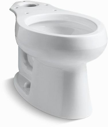 Wellworth Elongated Front Toilet Bowl, Vitreous China 1.6 GPF White