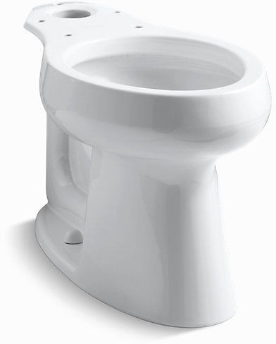 Highline, Comfort Height Elongated Front Toilet Bowl, Vitreous China 1.6 GPF White