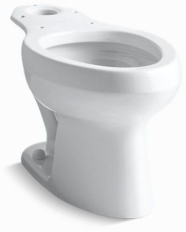 Wellworth, Pressure Lite Elongated Front Toilet Bowl, Vitreous China 1.6 GPF White Elongated Front Bowl