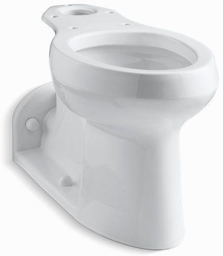 Barrington, Comfort Height Elongated Front Toilet Bowl, Vitreous China 1 GPF White