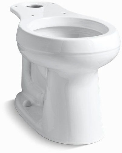 Cimarron, Comfort Height Round Front Toilet Bowl, Vitreous China 1.6 GPF White