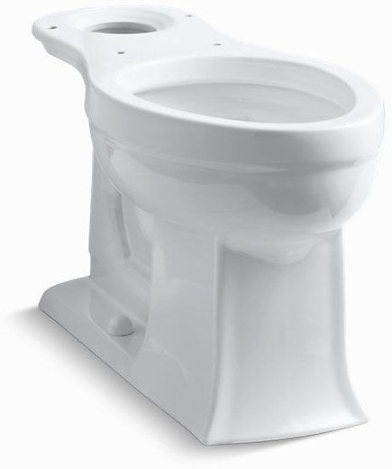 Archer, Comfort Height Elongated Toilet Bowl, Vitreous China 1.28 GPF White