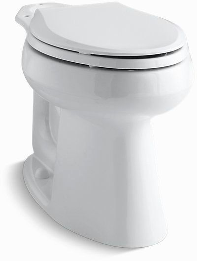 Highline, Comfort Height Elongated Front Toilet Bowl, Vitreous China 1.28 GPF White