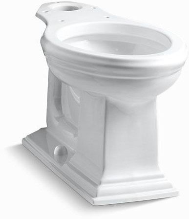 Memoirs, Comfort Height Elongated Front Toilet Bowl, Vitreous China 1.28 GPF White