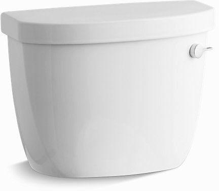 Cimarron, Aqua Piston Right Hand Flush Toilet Tank, Vitreous China 1.28 GPF White