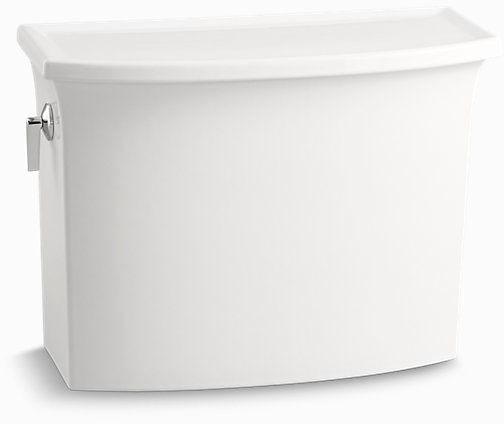 Archer Left Hand Flush Toilet Tank, Vitreous China 1.28 GPF White