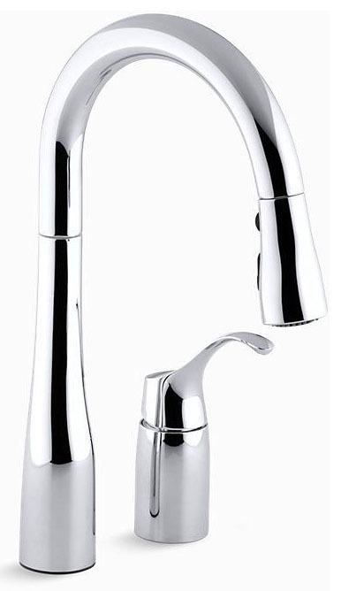 Kitchen Faucet with High-Arc Spout & Single Lever Handle - Simplice, Polished Chrome, Deck Mount, 1.8 GPM