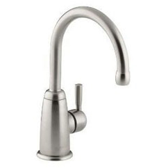 Wellspring Deck Mount Beverage Faucet, Vibrant Stainless Steel