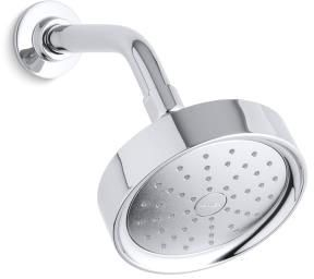 Purist 1-Function Round Showerhead, Polished Chrome