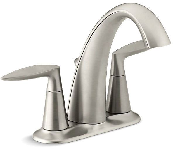 Alteo Centerset Lavatory Faucet Vibrant Brushed Nickel