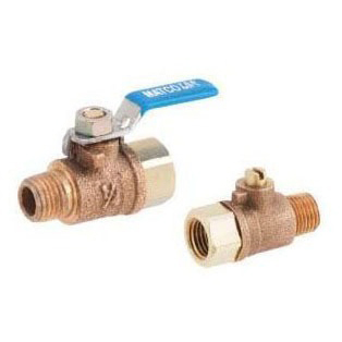 "1/4"" Cast Bronze Ball Valve - Lever Handle, MPT x FPT, 150 psi SWP, 600 psi WOG"