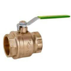 """Threaded Ball Valve, Lead-Free Forged Brass 2"""""""