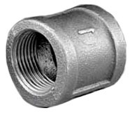 "2-1/2"" Black Malleable Iron Banded, Straight Coupling"