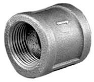 """3/4"""" Black Malleable Iron Banded, Straight Coupling"""