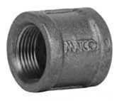 "1-1/4"" Black Malleable Iron Right and Left Coupling"