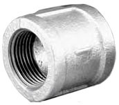 "2-1/2"" Galvanized Malleable Iron Banded, Straight Coupling"