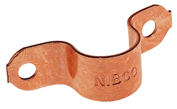 "1"" Wrot Copper Hole Tube Strap"