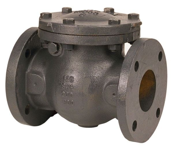 """4"""" Cast Iron Swing Check Valve - Flanged, 125 psi SWP, 200 psi CWP"""