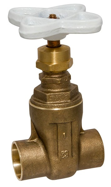 "2"" Soldered Gate Valve, Silicon Bronze Alloy"