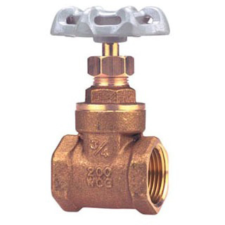 Threaded Gate Valve Cast Brass 1""
