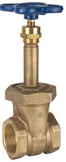 """1-1/4"""" DZR Bronze Solid Wedge Gate Valve - Handwheel, FPT, 150 psi SWP, 300 psi CWP"""