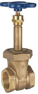 """3/4"""" DZR Bronze Solid Wedge Gate Valve - Handwheel, FPT, 150 psi SWP, 300 psi CWP"""