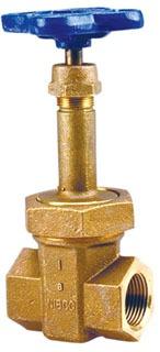"""3/4"""" DZR Bronze Solid Wedge Gate Valve - Handwheel, FPT, 300 psi SWP, 600 psi CWP"""