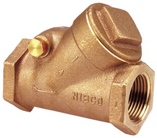 "1-1/2"" T-433-Y Threaded Check Valve, Bronze"