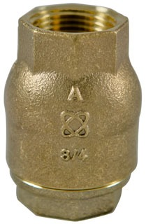 "1"" T-480-Y-LF Threaded Check Valve, Silicon Bronze"