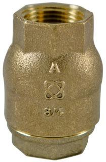"1"" T-480-Y-LF Threaded Check Valve, Silicon Bronze"