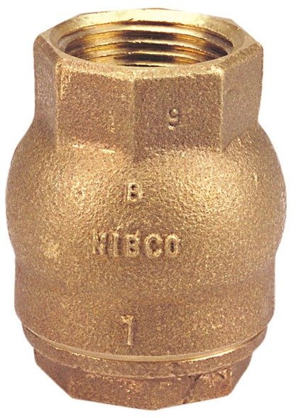 "3/4"" T-480-Y Threaded Check Valve, Silicon Bronze"