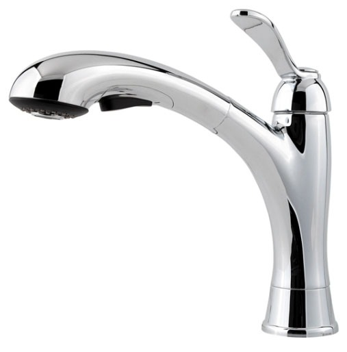 Kitchen Faucet with Pull-Out Spout & Single Lever Handle - Clairmont, Polished Chrome, Deck Mount, 1.8 GPM