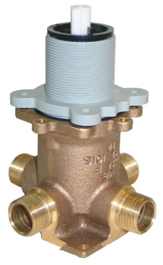 """1/2"""" Pressure Balancing Tub and Shower Valve - Pfirst Series, NPT / C, 5.5 GPM at 60 psi, Brass, Single Control"""