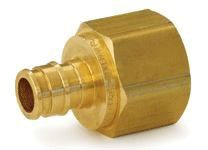 "1"" Brass Female Straight Adapter - ProPEX, PEX x FPT"