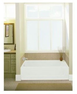 "60"" x 30"" Alcove Bathtub - All Pro, White"