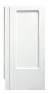 "Advantage Modular/Corner Shower Enclosure End Wall Set, Solid Vikrell 34"" x 66-1/4"" White/Swirl-Gloss"